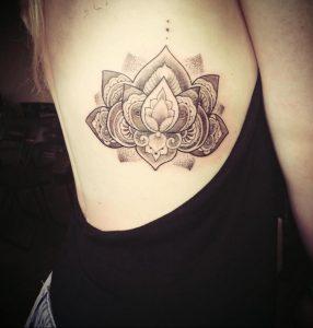лотос-мандала тату фото пример 04.02.2020 №020 -mandala tattoo- tattoo-photo.ru
