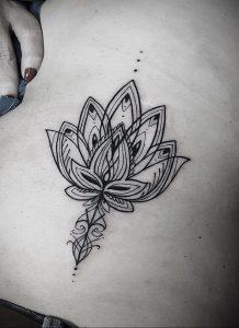 лотос-мандала тату фото пример 04.02.2020 №023 -mandala tattoo- tattoo-photo.ru