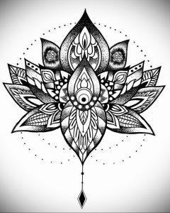 лотос-мандала тату фото пример 04.02.2020 №037 -mandala tattoo- tattoo-photo.ru