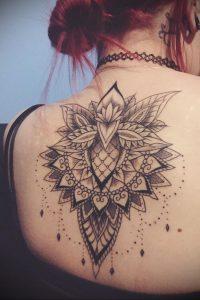 лотос-мандала тату фото пример 04.02.2020 №038 -mandala tattoo- tattoo-photo.ru