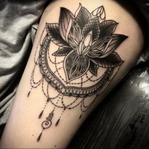 лотос-мандала тату фото пример 04.02.2020 №039 -mandala tattoo- tattoo-photo.ru