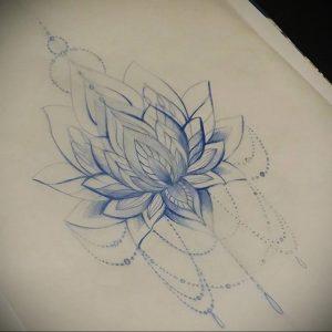 лотос-мандала тату фото пример 04.02.2020 №047 -mandala tattoo- tattoo-photo.ru