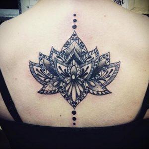 лотос-мандала тату фото пример 04.02.2020 №048 -mandala tattoo- tattoo-photo.ru
