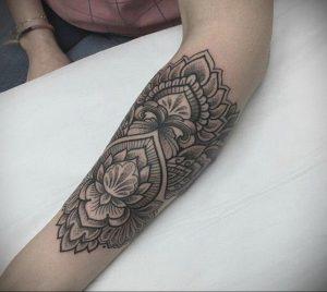лотос-мандала тату фото пример 04.02.2020 №056 -mandala tattoo- tattoo-photo.ru