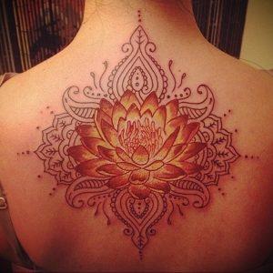 лотос-мандала тату фото пример 04.02.2020 №063 -mandala tattoo- tattoo-photo.ru