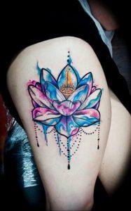 лотос-мандала тату фото пример 04.02.2020 №065 -mandala tattoo- tattoo-photo.ru