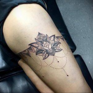 лотос-мандала тату фото пример 04.02.2020 №069 -mandala tattoo- tattoo-photo.ru