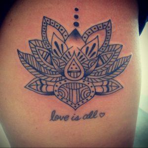 лотос-мандала тату фото пример 04.02.2020 №075 -mandala tattoo- tattoo-photo.ru
