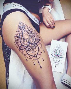 лотос-мандала тату фото пример 04.02.2020 №078 -mandala tattoo- tattoo-photo.ru