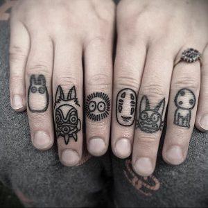 маленькие аниме тату 19.01.2020 №007 -small anime tattoos- tattoo-photo.ru
