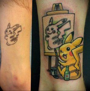 маленькие аниме тату 19.01.2020 №021 -small anime tattoos- tattoo-photo.ru