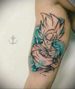 тату аниме арт 18.01.2020 №022 -anime art tattoo- tattoo-photo.ru