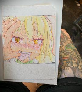 тату аниме арт 18.01.2020 №071 -anime art tattoo- tattoo-photo.ru
