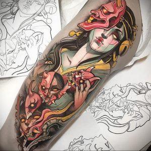 тату аниме арт 18.01.2020 №094 -anime art tattoo- tattoo-photo.ru