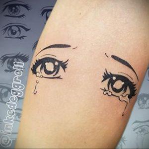 тату аниме глаза 18.01.2020 №018 -anime eyes tattoo- tattoo-photo.ru