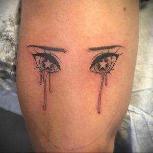 тату аниме глаза 18.01.2020 №028 -anime eyes tattoo- tattoo-photo.ru