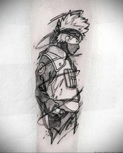 тату аниме черно белые 19.01.2020 №011 -anime tattoo black and white- tattoo-photo.ru