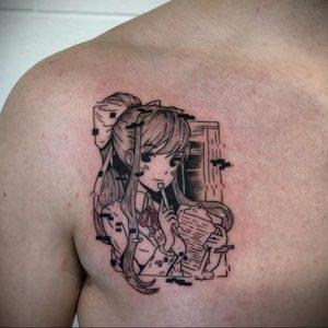 тату в стиле аниме 18.01.2020 №024 -anime style tattoo- tattoo-photo.ru