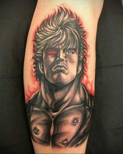 тату в стиле аниме 18.01.2020 №057 -anime style tattoo- tattoo-photo.ru