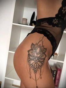 тату мандала на бедре 04.02.2020 №053 -mandala tattoo- tattoo-photo.ru
