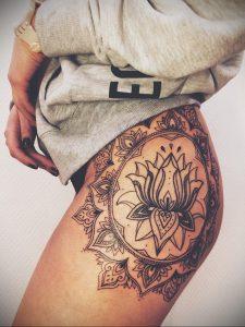 тату мандала на бедре 04.02.2020 №059 -mandala tattoo- tattoo-photo.ru