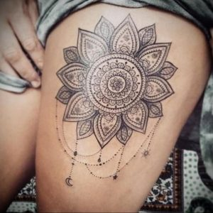 тату мандала на ноге 04.02.2020 №014 -mandala tattoo- tattoo-photo.ru