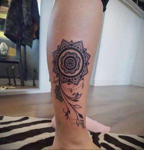 тату мандала на ноге 04.02.2020 №044 -mandala tattoo- tattoo-photo.ru