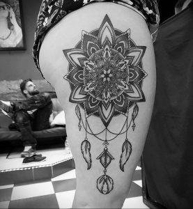тату мандала на ноге 04.02.2020 №063 -mandala tattoo- tattoo-photo.ru