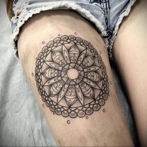 тату мандала на ноге 04.02.2020 №078 -mandala tattoo- tattoo-photo.ru