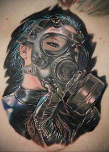 тату противогаз эскиз 15.01.2020 №001 -tattoo gas mask sketches- tattoo-photo.ru