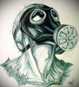 тату противогаз эскиз 15.01.2020 №037 -tattoo gas mask sketches- tattoo-photo.ru