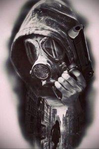 тату противогаз 15.01.2020 №003 -gas mask tattoo- tattoo-photo.ru_2