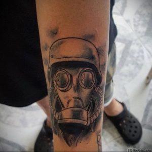 тату противогаз 15.01.2020 №004 -gas mask tattoo- tattoo-photo.ru_2