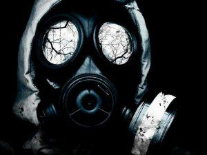 тату противогаз 15.01.2020 №005 -gas mask tattoo- tattoo-photo.ru