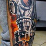 тату череп в противогазе 15.01.2020 №032 -skull tattoo in gas mask- tattoo-photo.ru