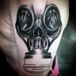 тату череп в противогазе 15.01.2020 №048 -skull tattoo in gas mask- tattoo-photo.ru