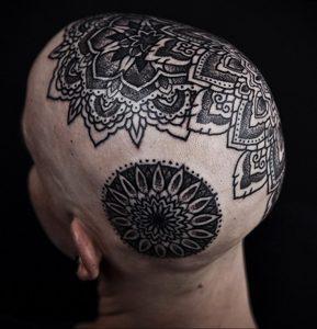 фото пример тату мандала 04.02.2020 №001 -mandala tattoo- tattoo-photo.ru