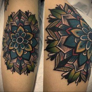 фото пример тату мандала 04.02.2020 №024 -mandala tattoo- tattoo-photo.ru