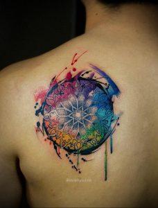 фото пример тату мандала 04.02.2020 №059 -mandala tattoo- tattoo-photo.ru