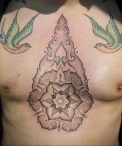 фото пример тату мандала 04.02.2020 №069 -mandala tattoo- tattoo-photo.ru