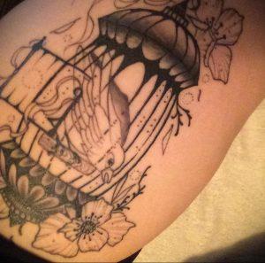 фото тату птица в клетке 02.01.2019 №026 -bird cage tattoo- tattoo-photo.ru