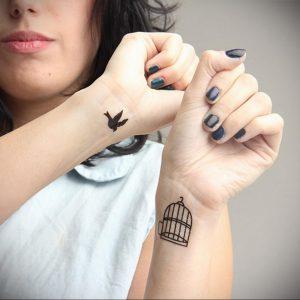 фото тату птица в клетке 02.01.2019 №029 -bird cage tattoo- tattoo-photo.ru