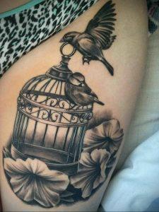фото тату птица в клетке 02.01.2019 №036 -bird cage tattoo- tattoo-photo.ru