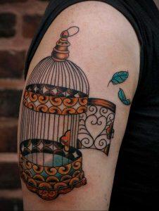 фото тату птица в клетке 02.01.2019 №039 -bird cage tattoo- tattoo-photo.ru