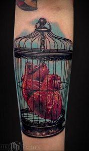 фото тату птица в клетке 02.01.2019 №042 -bird cage tattoo- tattoo-photo.ru