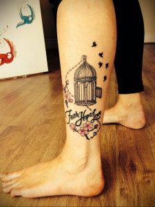 фото тату птица в клетке 02.01.2019 №043 -bird cage tattoo- tattoo-photo.ru