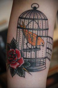 фото тату птица в клетке 02.01.2019 №044 -bird cage tattoo- tattoo-photo.ru