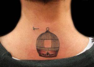 фото тату птица в клетке 02.01.2019 №049 -bird cage tattoo- tattoo-photo.ru