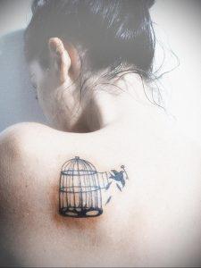 фото тату птица в клетке 02.01.2019 №056 -bird cage tattoo- tattoo-photo.ru