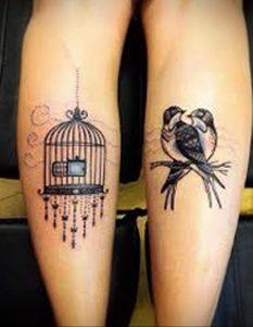 фото тату птица в клетке 02.01.2019 №071 -bird cage tattoo- tattoo-photo.ru